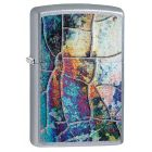 Rust Patina Design Zippo Lighter in Street Chrome 29897