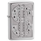Bling Emblem Polished Chrome Zippo Lighter 20904