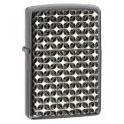 Armor Ebony Zippo Lighter - Star, Engine Turned 28186
