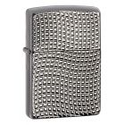 Cross Wave Ridge Armor Zippo Lighter - Black Chrome 28544