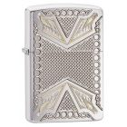 Dagger Zippo Lighter in Brushed Chrome Armor 28808