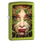 Filigree Ace Zippo Lighter in Lurid Green 28865