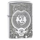 Anne Stokes Armor Zippo Lighter in Polished Chrome 28962