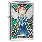 Fusion Angel Zippo Lighter in Polished Chrome 28967