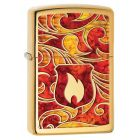 Fusion Zippo Shield Zippo Lighter in Polished Brass 28975