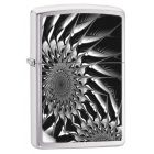 Metal Abstract Zippo Lighter in Brushed Chrome 29061