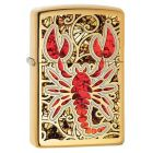 Scorpion Shell Zippo Lighter in Polished Brass 29096