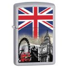 London Scene Zippo Lighter in Satin Chrome 60001628