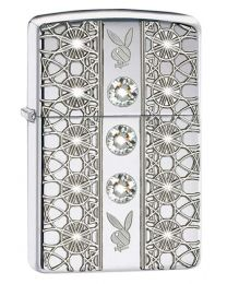 Armor Playboy Swarovski Jewelled Zippo Lighter 28964