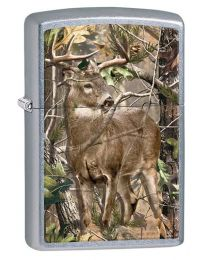 Realtree APG Deer Zippo Lighter in Street Chrome 29310