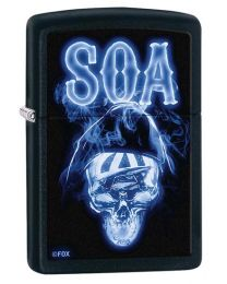 Sons of Anarchy Skull Zippo Lighter in Matte Black 29317