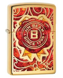 Jim Beam Fusion Seal Zippo Lighter in Polished Brass 29319