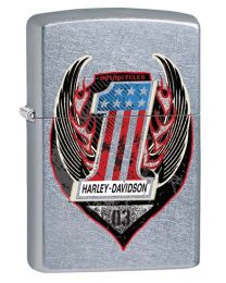 Harley Davidson One Zippo Lighter in Street Chrome 29347