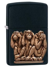 3 Monkeys Zippo Lighter - Hear No Evil Speak No Evil 29409