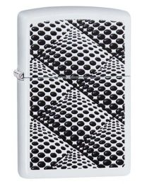 Zippo Dots and Boxes Zippo Lighter in White Matte 29416