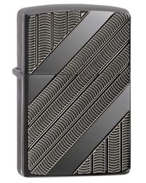 Armor Coils Zippo Lighter in Black Ice 29422