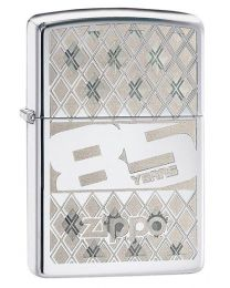 Zippo 85th Anniversary Zippo Lighter in Polished Chrome 29438