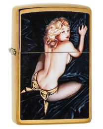 Olivia Zippo Lighter in Brushed Brass 29473