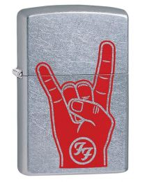 Foo Fighters Rock On Zippo Lighter in Street Chrome 29476