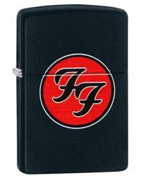 Foo Fighters Logo Zippo Lighter in Black Matte 29477