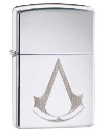 Assassins Creed Zippo Lighter in Polished Chrome 29486