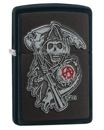Sons of Anarchy Emblem Zippo Lighter in Matte Black 29489