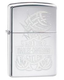 Harley Davidson Elegant Logo Zippo Lighter in Polished Chrome 29500