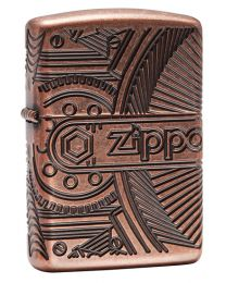 Special 360 Multicut Gears Zippo Lighter in Antique Copper 29523