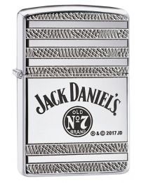 Jack Daniels Armor Geo Zippo Lighter in Polished Chrome 29526