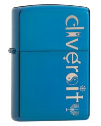 Diversity Zippo Lighter in Sapphire Polished Blue 29549