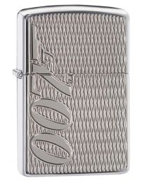 James Bond 007 Zippo Lighter in Armor Polished Chrome 29550