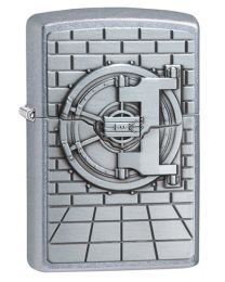 Safe with Gold Surprise Zippo Lighter in Street Chrome 29555