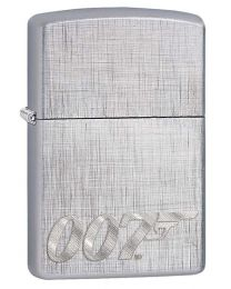 James Bond 007 Zippo Lighter in Linen Weave 29562