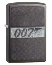 James Bond 007 ICED Zippo Lighter in Grey Dusk 29564