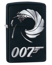 James Bond Gun Barrel Zippo Lighter in Black Matte 29566