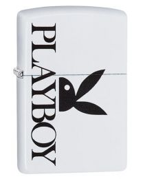 Playboy Peekin Bunny Zippo Lighter in White Matte 29579