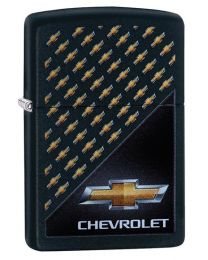 Chevrolet Logos Zippo Lighter in Black Matte 29580