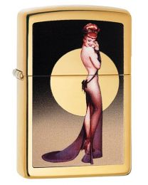 Olivia Zippo Lighter in Polished Brass 29583