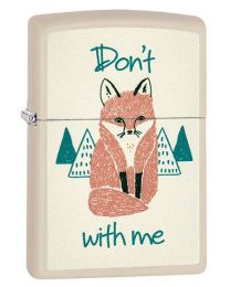 Fox With Me Zippo Lighter in Cream Matte 29615
