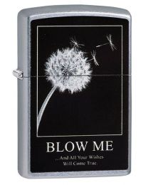 Dandelion Wishes Zippo Lighter in Street Chrome 29621
