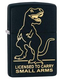 T-Rex Small Arms Zippo Lighter in Black Matte 29629