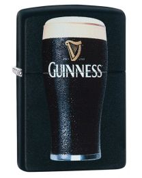 Guinness Pint Zippo Lighter in Matte Black 29649