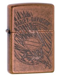 Harley Davidson Eagle In Action Zippo Lighter in Antique Copper 29664