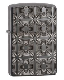 Armor Decorative Pattern Design Zippo Lighter in Black Ice 29665