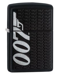 James Bond 007 Logo Zippo Lighter in Matte Black 29718