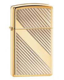 Slim Lines Design Zippo Lighter in Polished Brass 29724