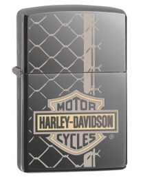 Harley Davidson Wired Zippo Lighter in Black Ice 29737