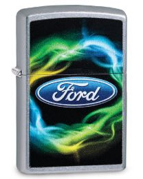 Ford Script Colour Zippo Lighter in Street Chrome 29752
