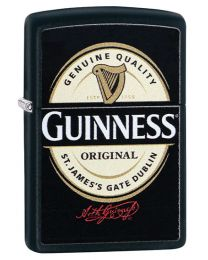 Guinness Label Zippo Lighter in Matte Black 29755