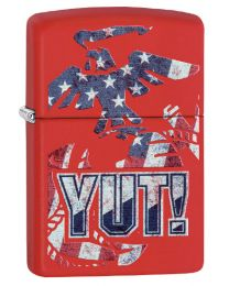US Marines YUT! Zippo Lighter in Matte Red 29765